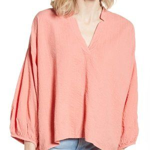 Lou & Grey Top BNWOT vneck pink small oversized